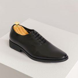 Giày da nam màu đen da bò GNTA820-D