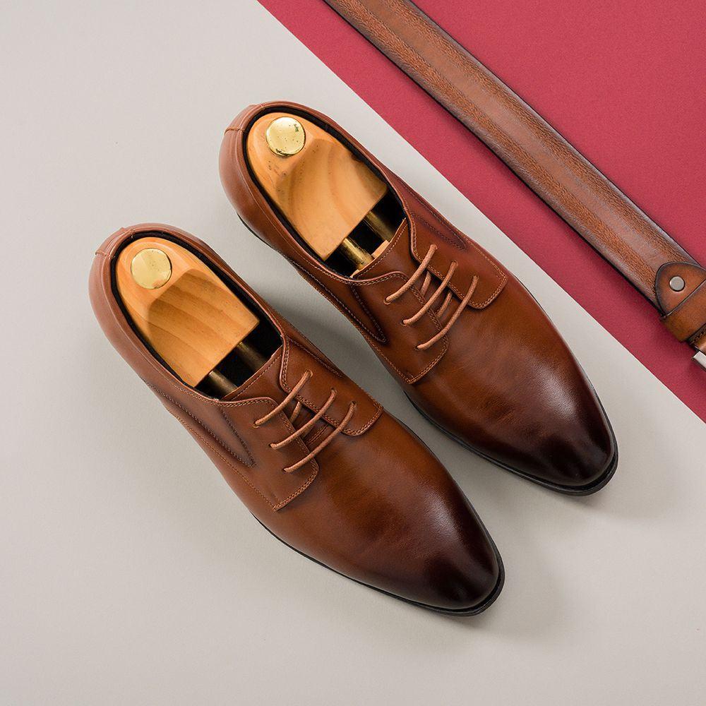 Giày cao nam màu nâu GCTATC1670-N