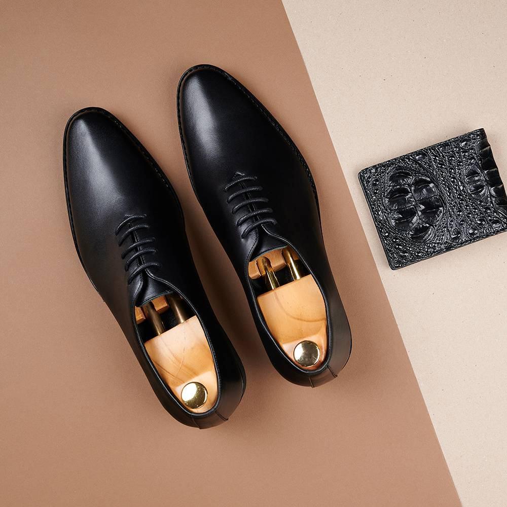 Giày da nam màu đen GNTA820-D