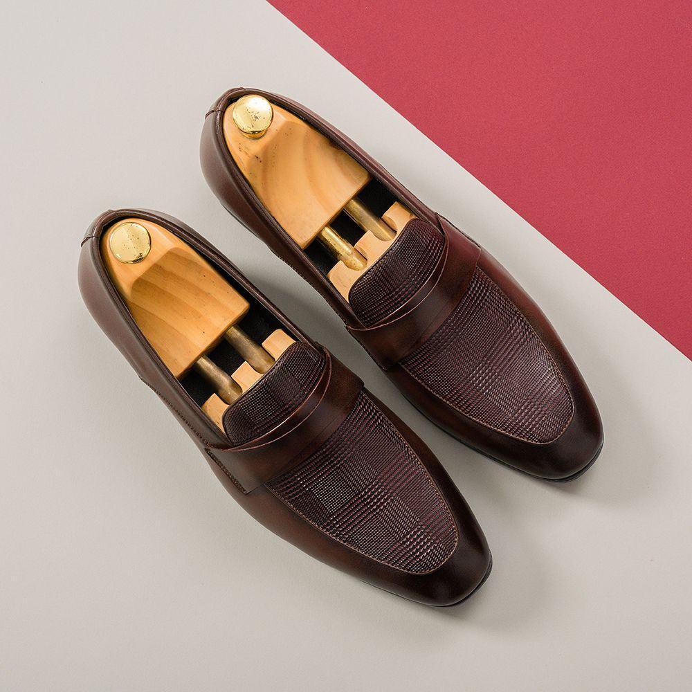 Giày da nam màu nâu GNTA10062-N