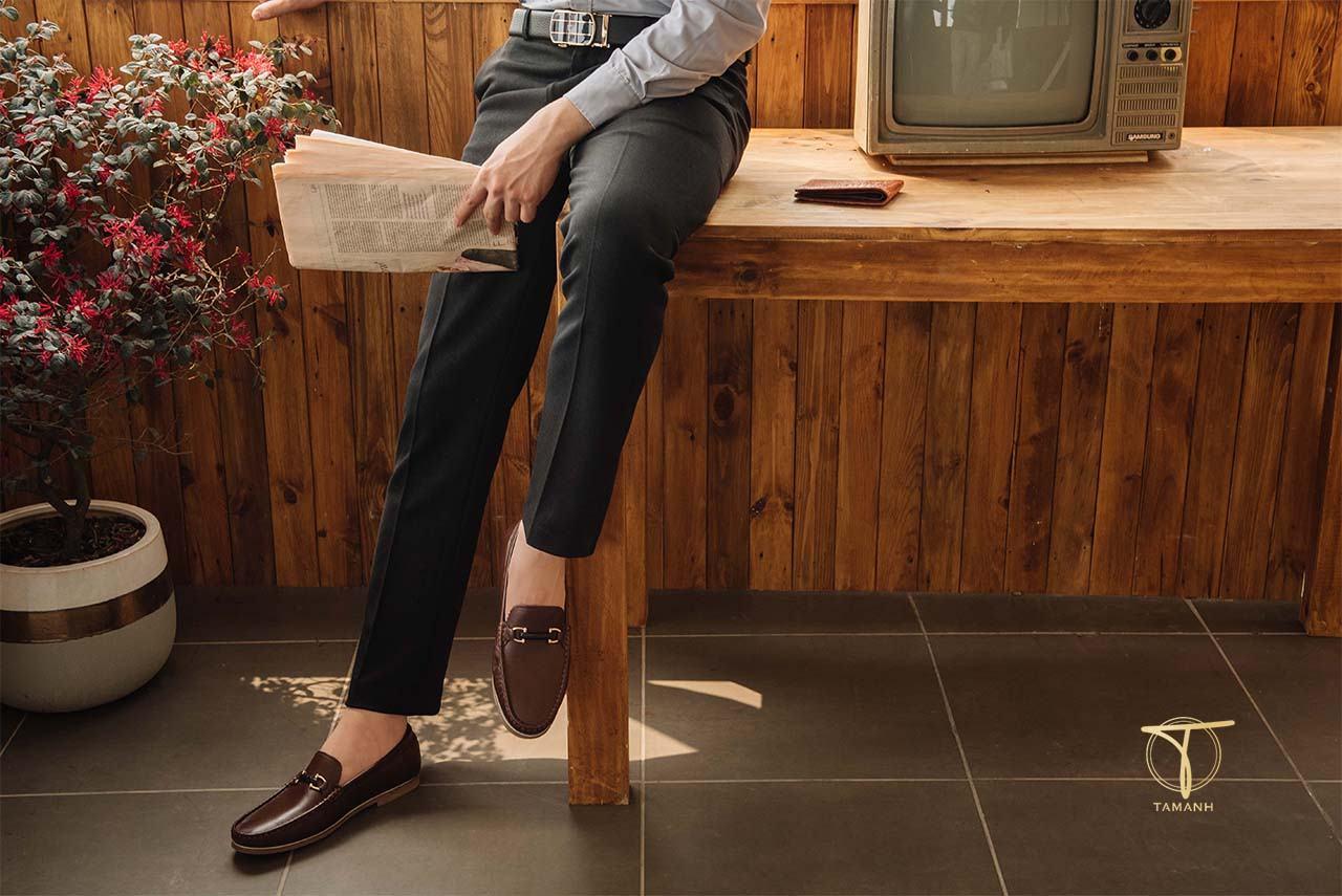Mẫu giày da thật Tâm Anh