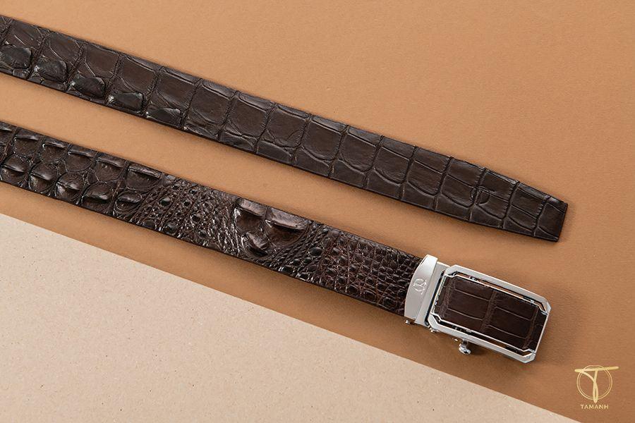 Mẫu thắt lưng nam da cá sấu mã DTA1300