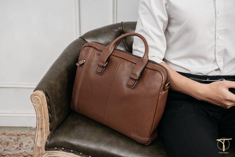 Túi xách nam màu nâu hàng hiệu sang trọng