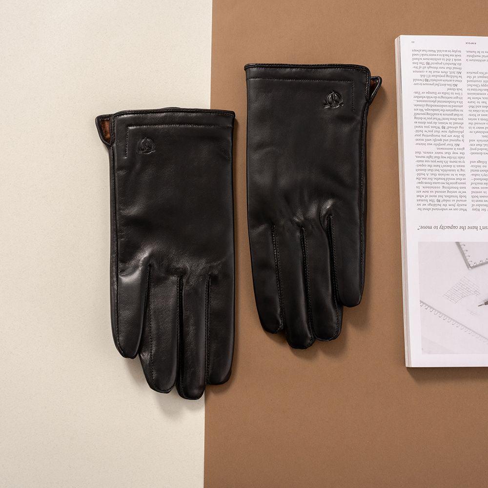 Găng tay da nam cảm ứng hàng hiệu GTTACUNA-20-D
