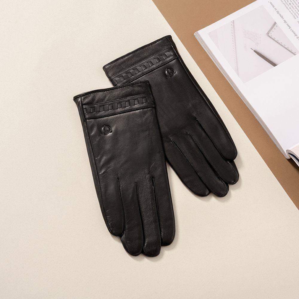 Găng tay da nam cảm ứng mã GTTACUNA-22-D