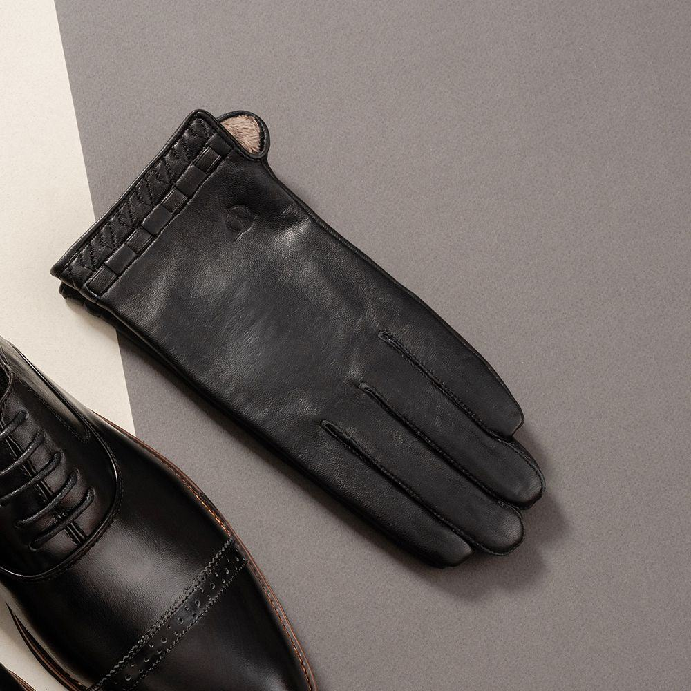 Găng tay da nam cảm ứng GTTACUNA-26-D