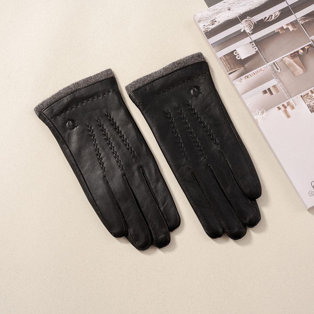 Găng tay da nam cảm ứng GTTACUNA-28-D