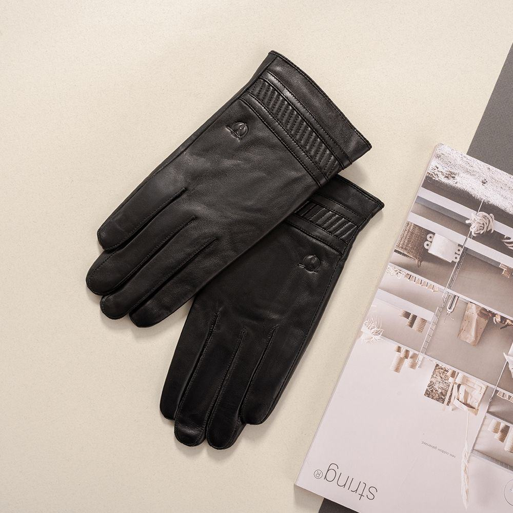 Găng tay da nam hàng hiệu mã GTTACUNA-30-D