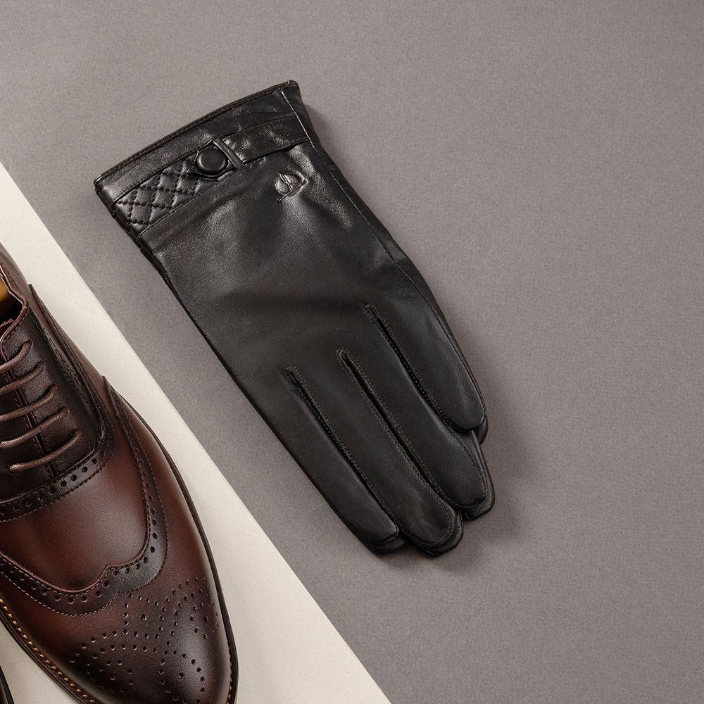 Găng tay da nam thời trang cảm ứng GTTACUNA-24-D
