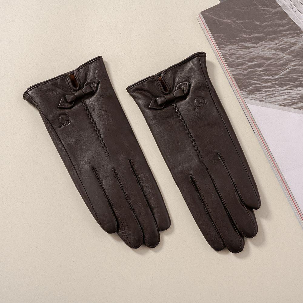 Găng tay da nữ cảm ứng GTTACUNU-11-N