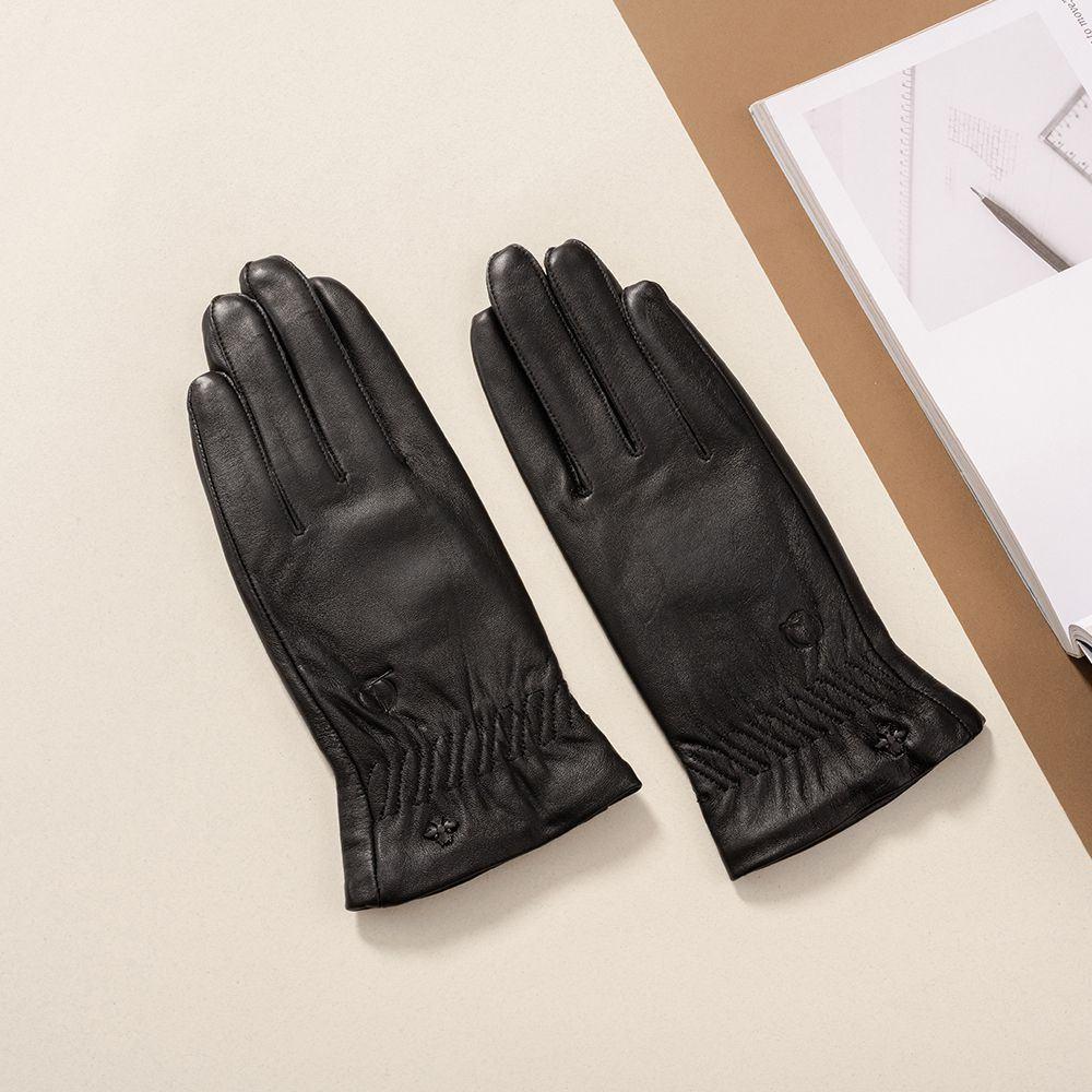 Găng tay da nữ cảm ứng GTTACUNU-15-D