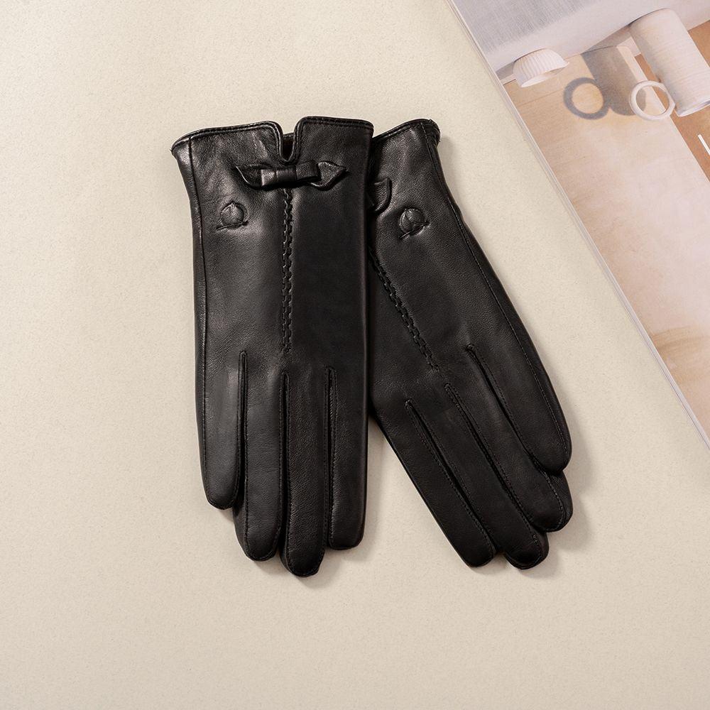 Găng tay da nữ cảm ứng GTTACUNU-11-D
