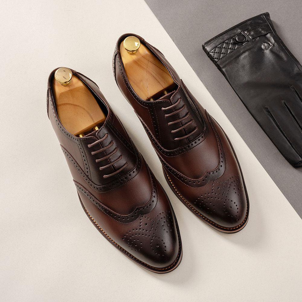 Giày da nam màu cafe GNTA2692-CF