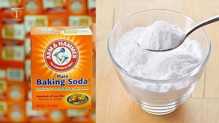 Khử mùi dây da đồng hồ với bột baking soda