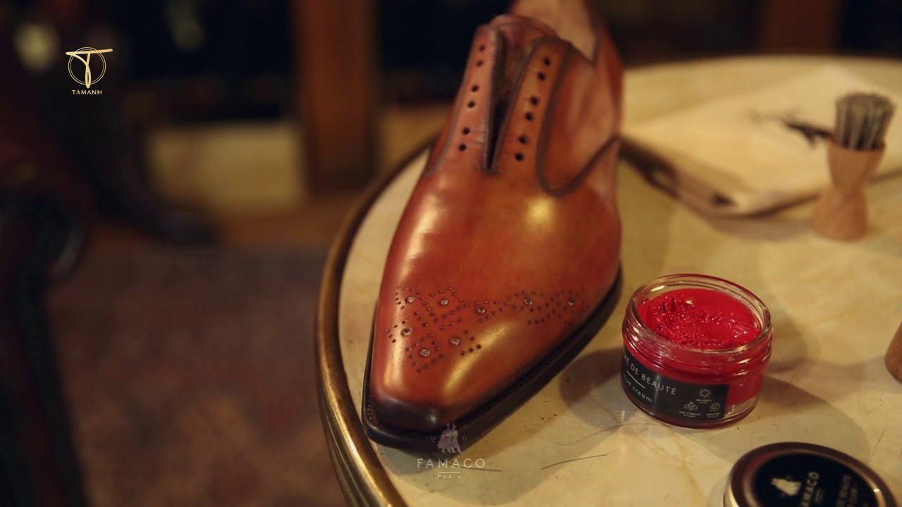 Giày da nam lên màu Patina tạo ấn tượng