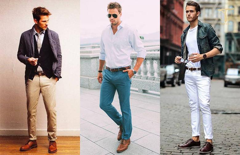 Cách phối đồ với giày brogue nam