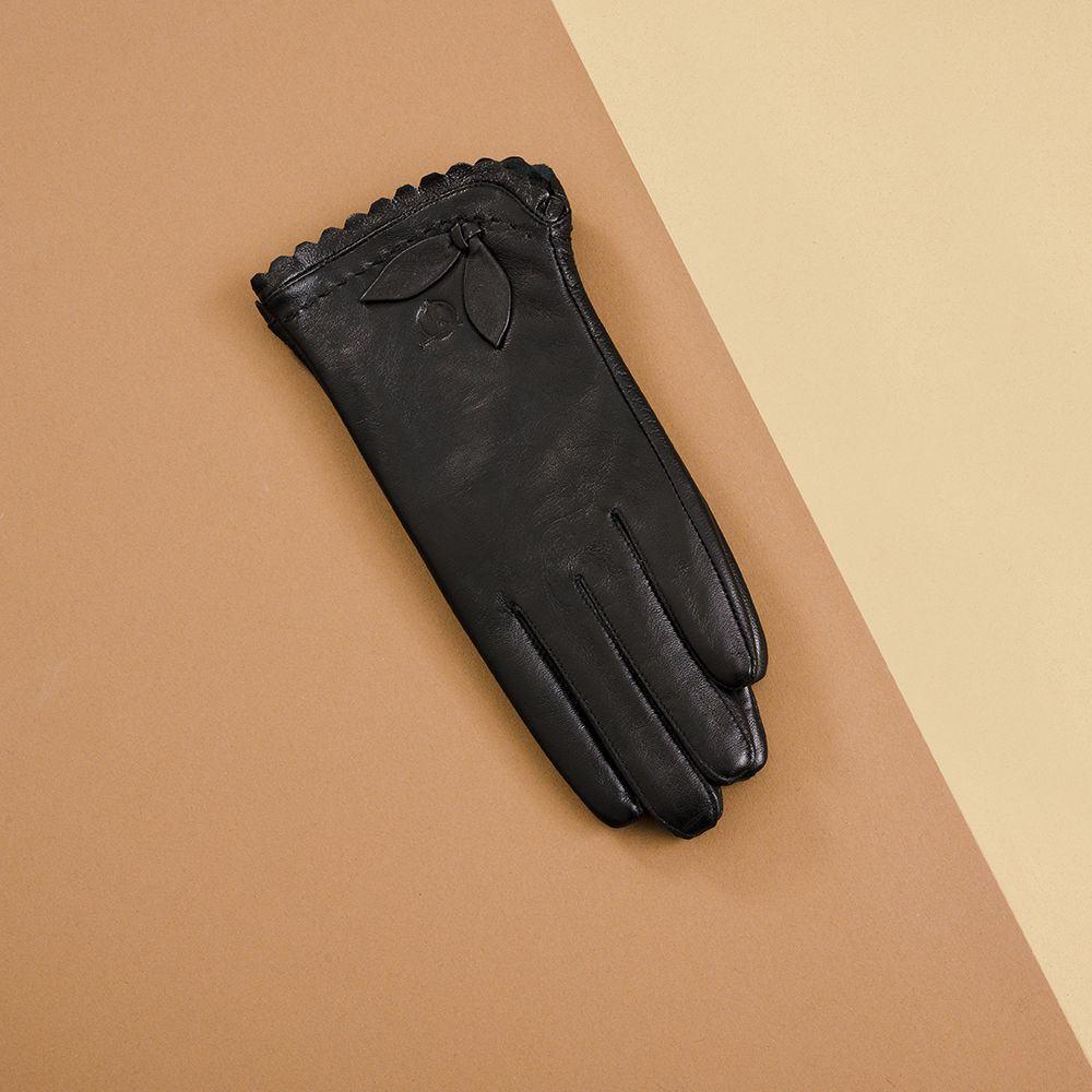 Găng tay da nữ cảm ứng hàng hiệu GTTACUNU-16-D