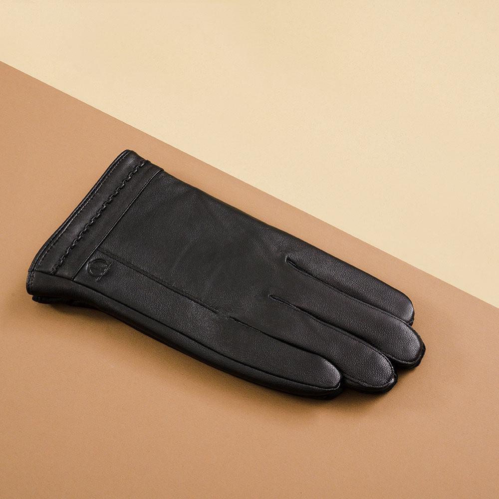 Găng tay da nam cam ứng hàng hiệu GTTACUNA-32-D