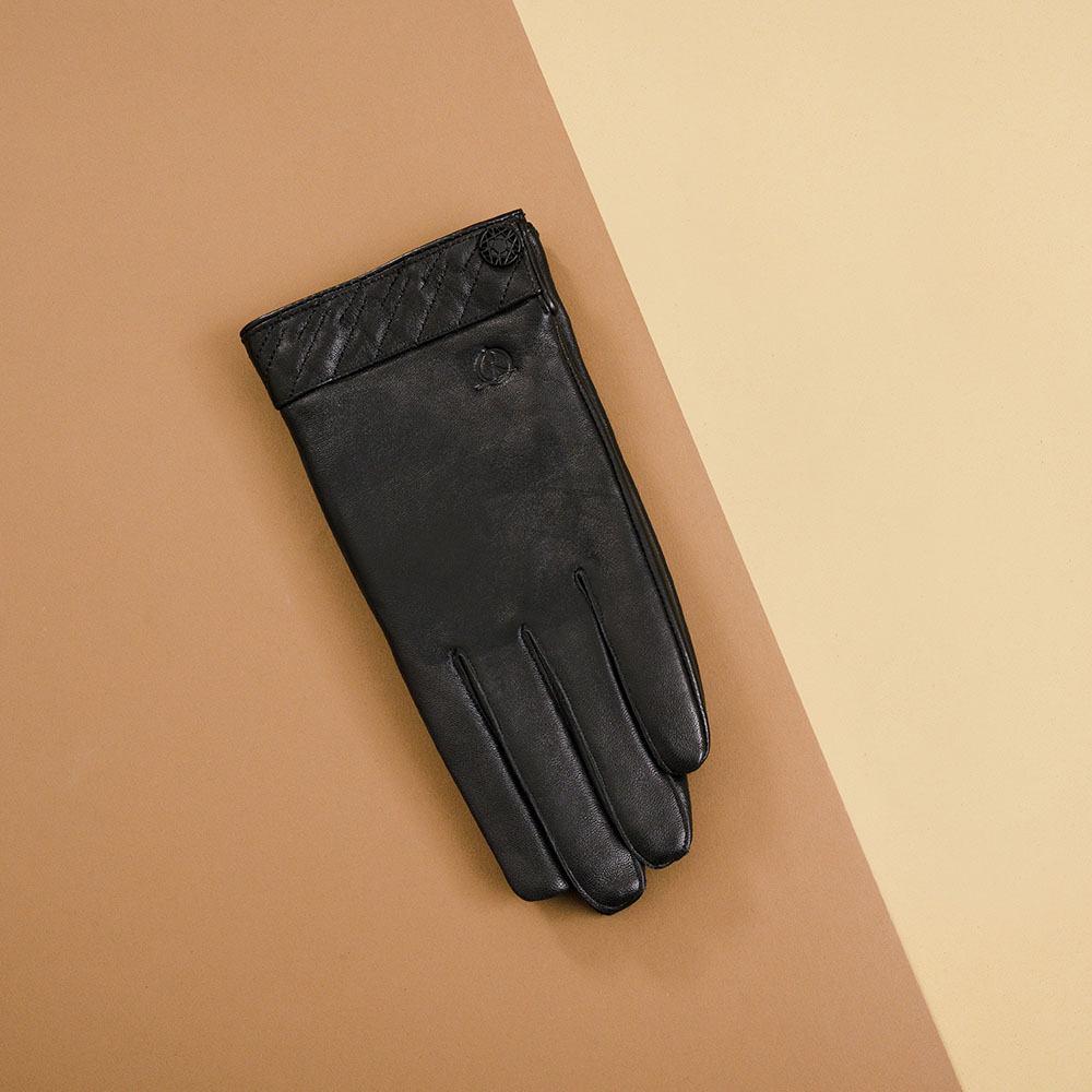 Găng tay nam cảm ứng da thật GTTACUNA-33-D