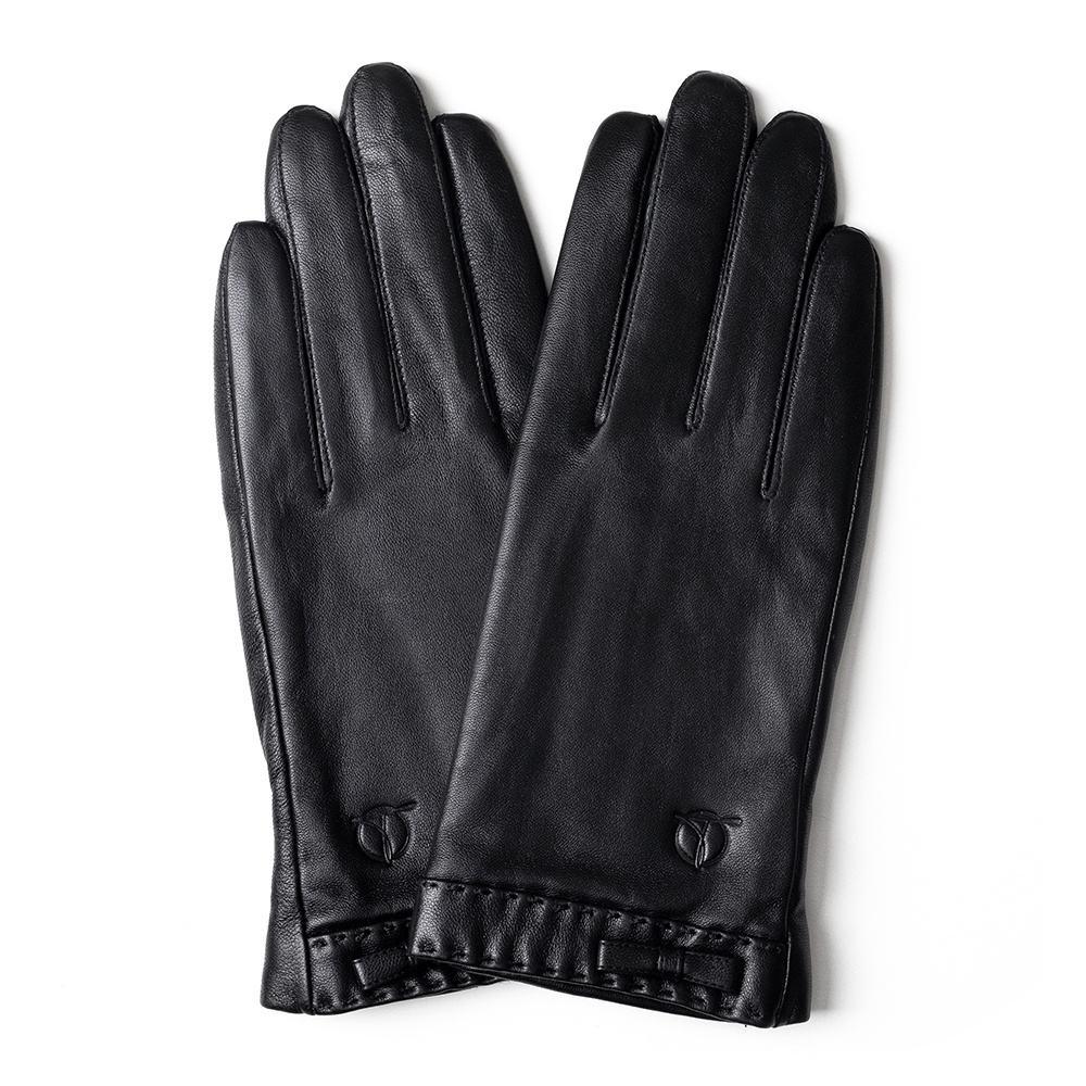 Găng tay da nữ cảm ứng da thật GTTACUNU-18-D