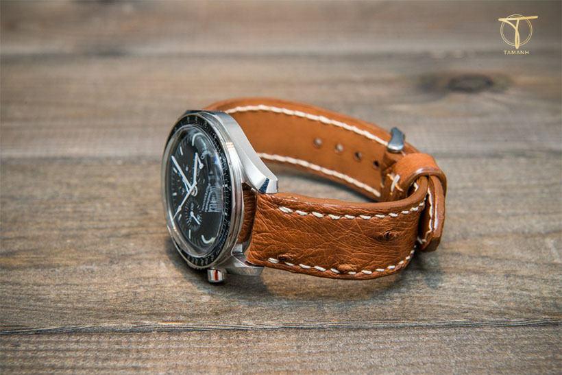 Mẫu dây đồng hồ da đà điểu