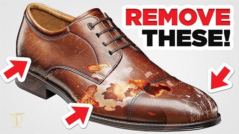 Nguyên nhân đôi giày da của bạn bị xước
