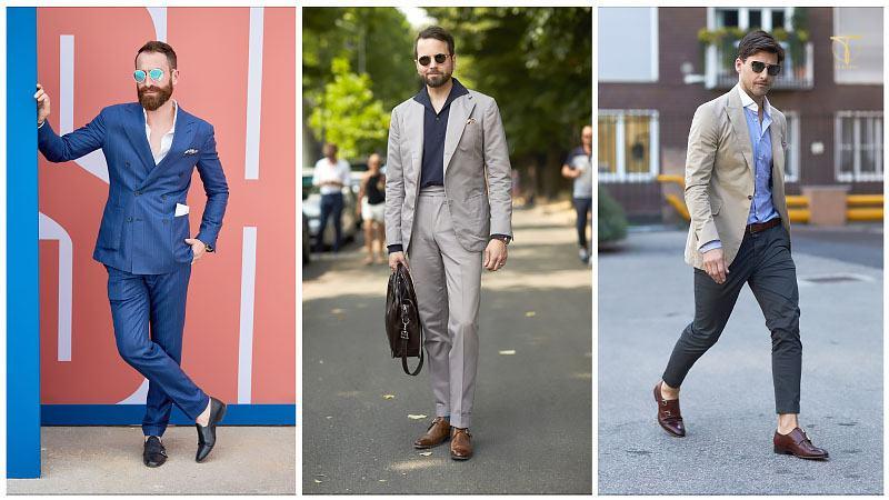 Kết hợp Monk Strap + suit