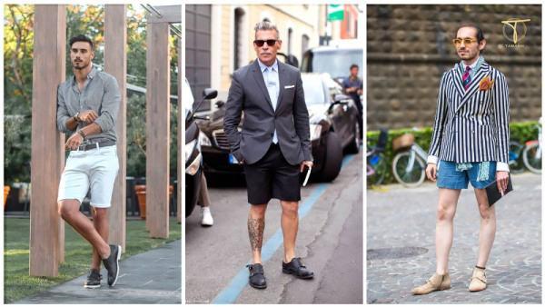 Phối đồ giày Monk strap + quần short