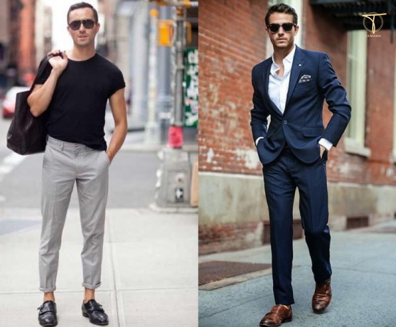 Phối đồ giày Monk strap + quần jean