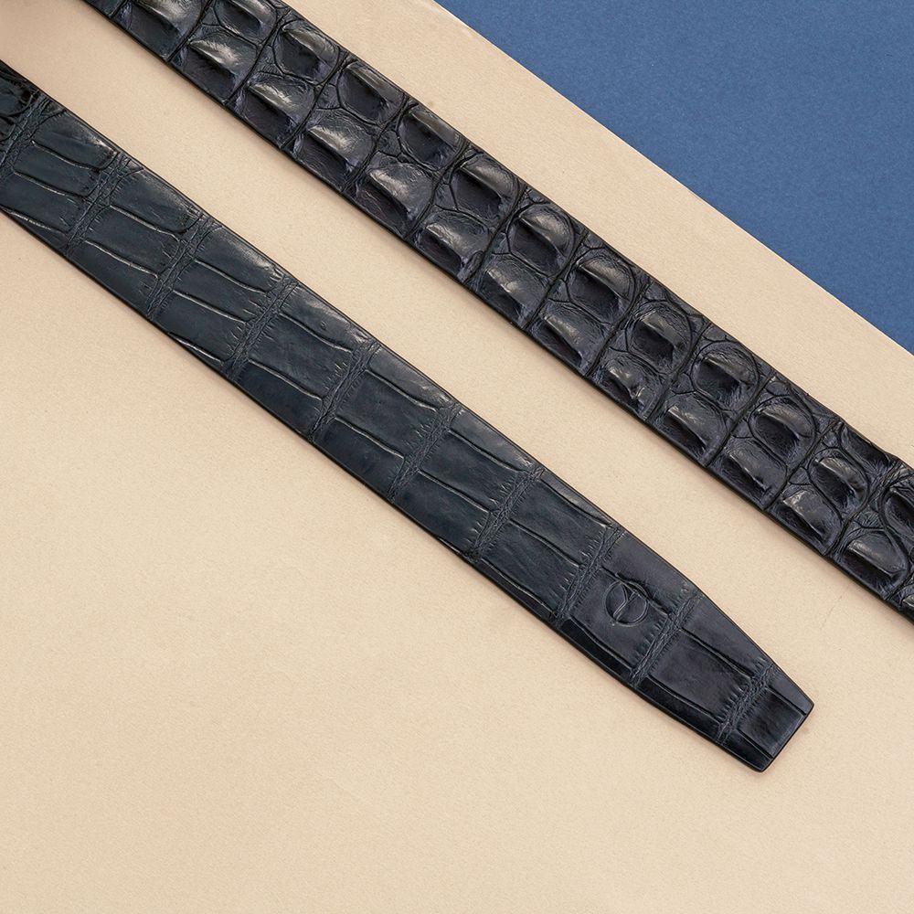 Dây lưng da cá sấu nối bản 3.5 cm DTA990-01V-L-D