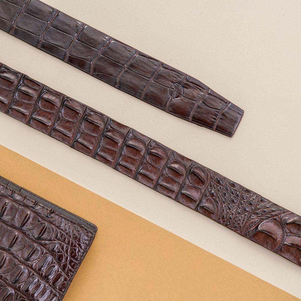 Dây lưng nam da cá sấu nối bản 3.5 cm DTA990-01V-L-CF