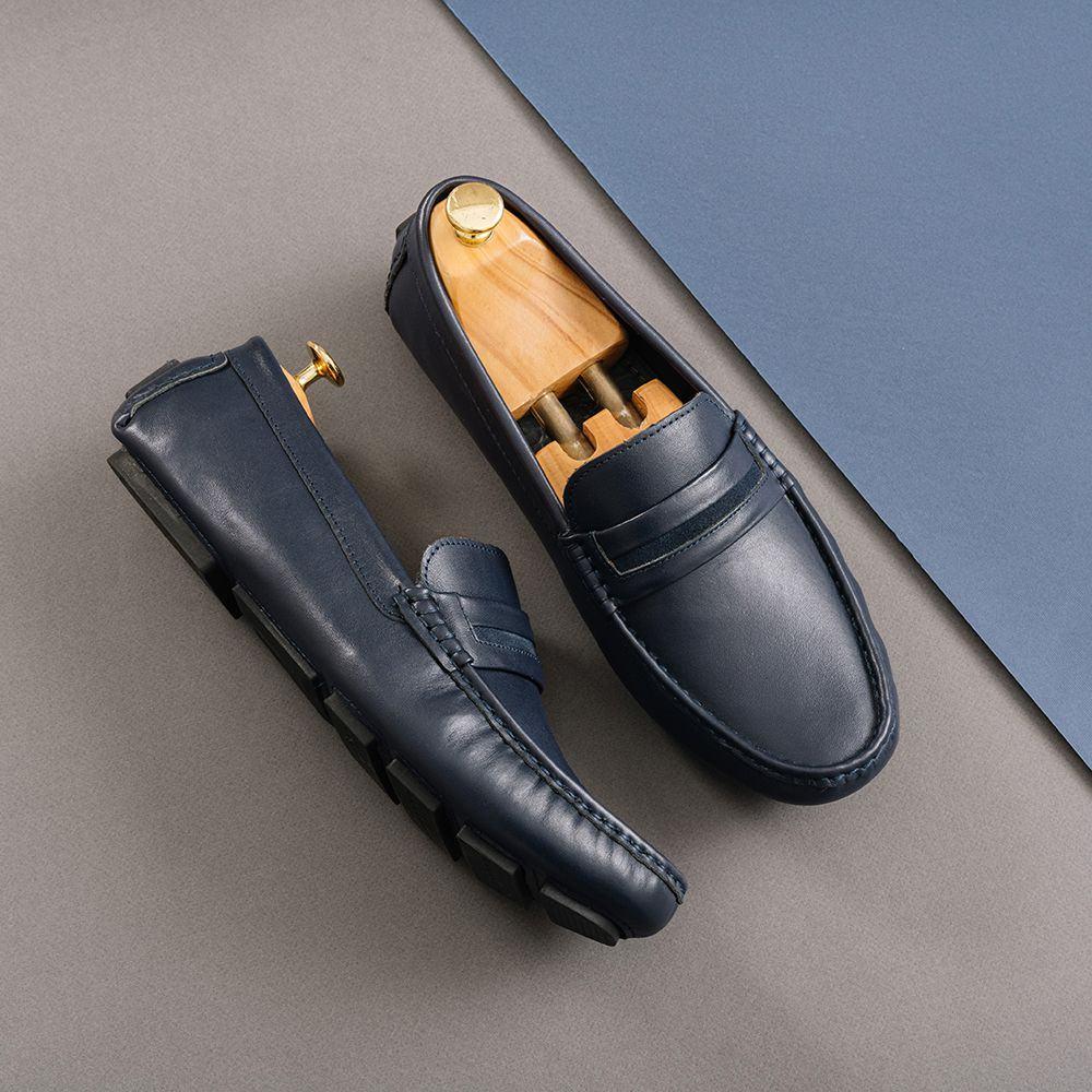 Giày lười nam da bò GNTA190905-X