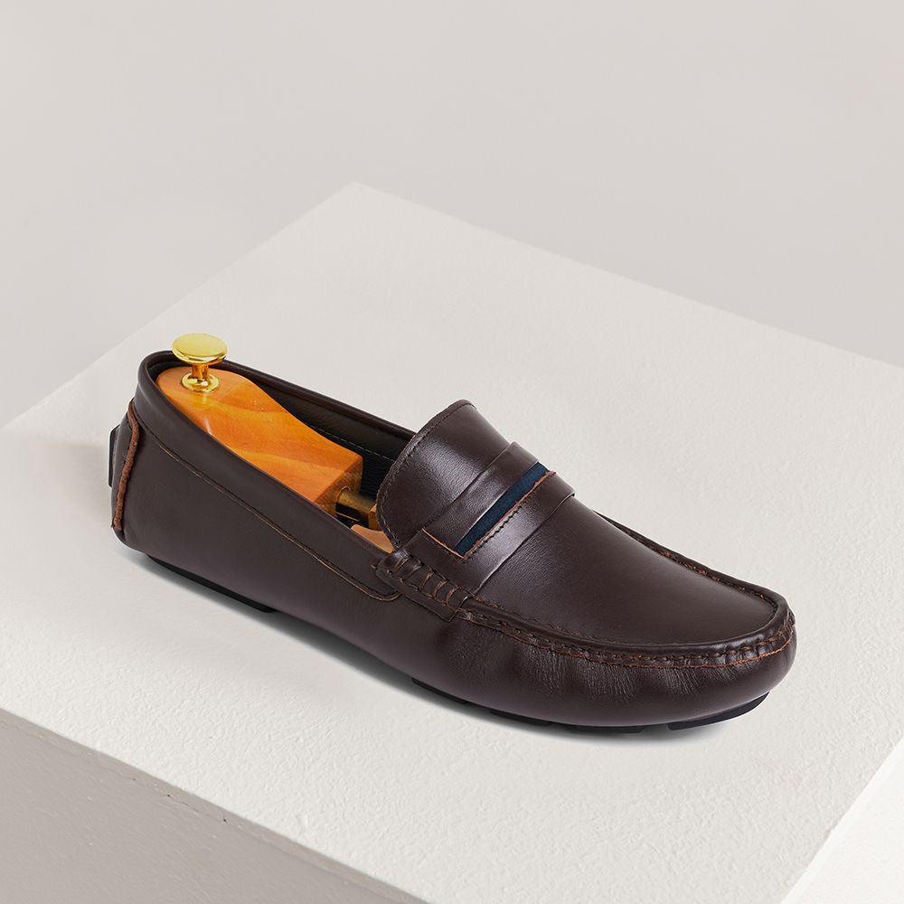 Giày lười nam da bò GNTA190905-N