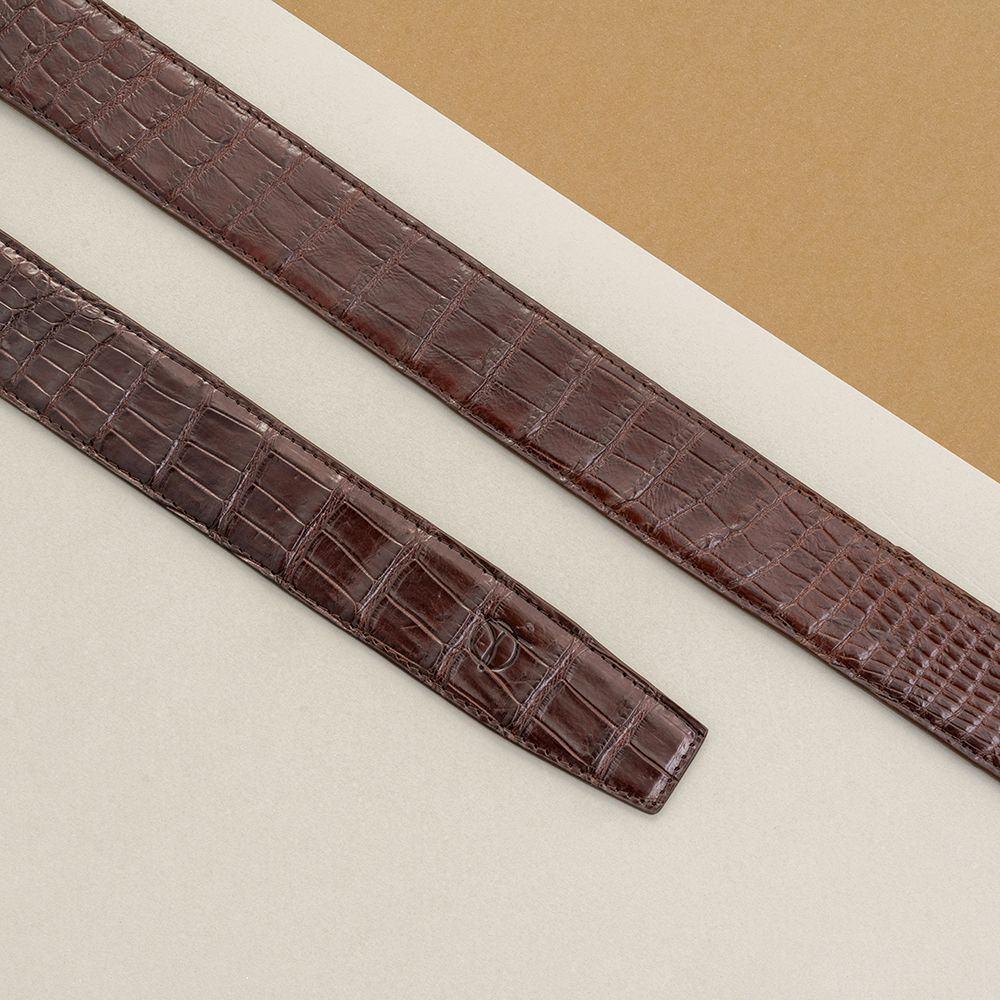 Thắt lưng nam da cá sấu nối bản 3.5 cm DTA990-01B-B-CF