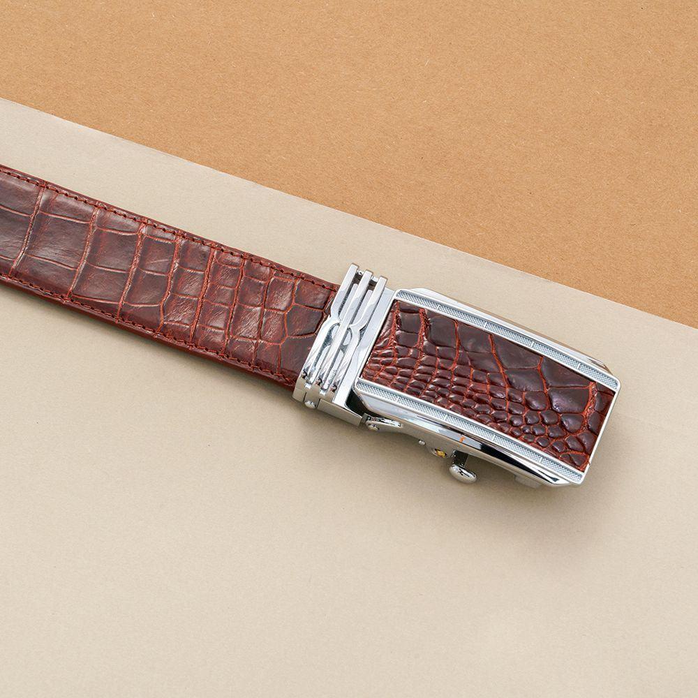 Thắt lưng nam da cá sấu nối bản 3.5 cm DTA990-01B-B-ND