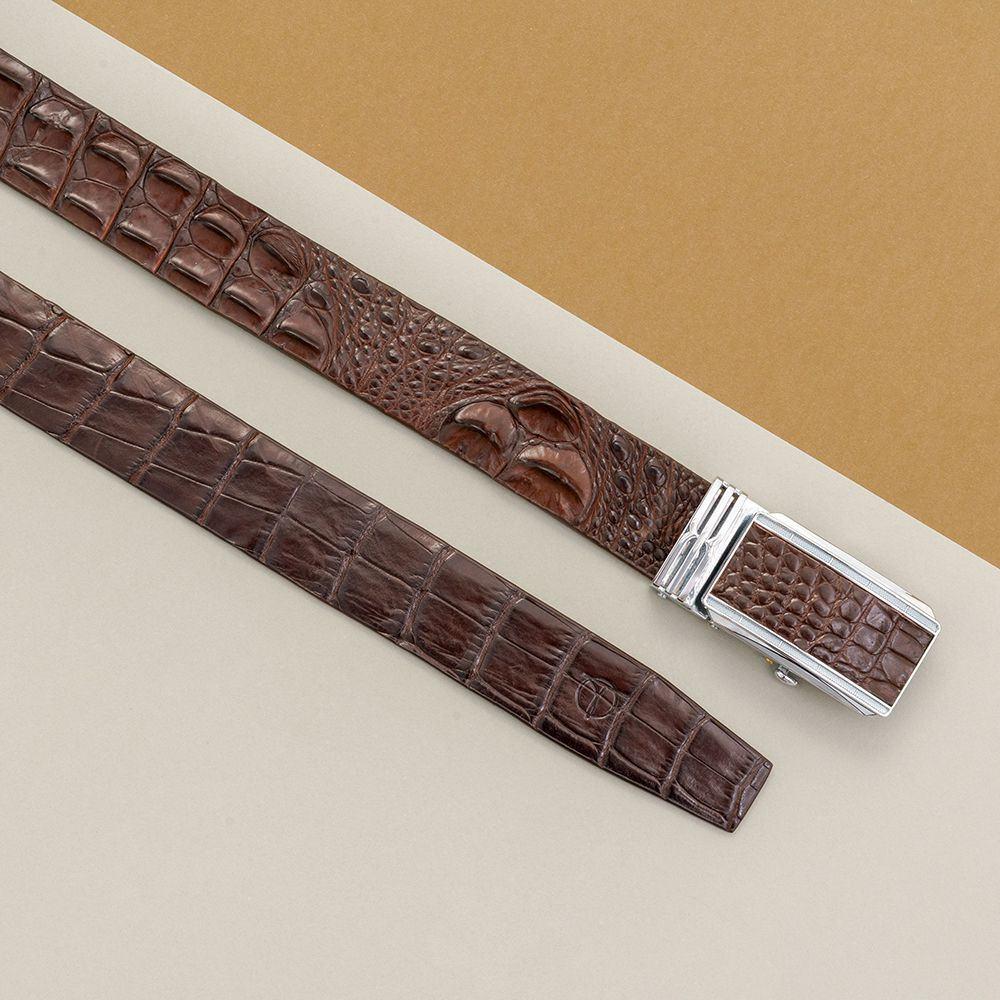 Thắt lưng nam da cá sấu nối bản 3.5 cm DTA990-01B-L-CF