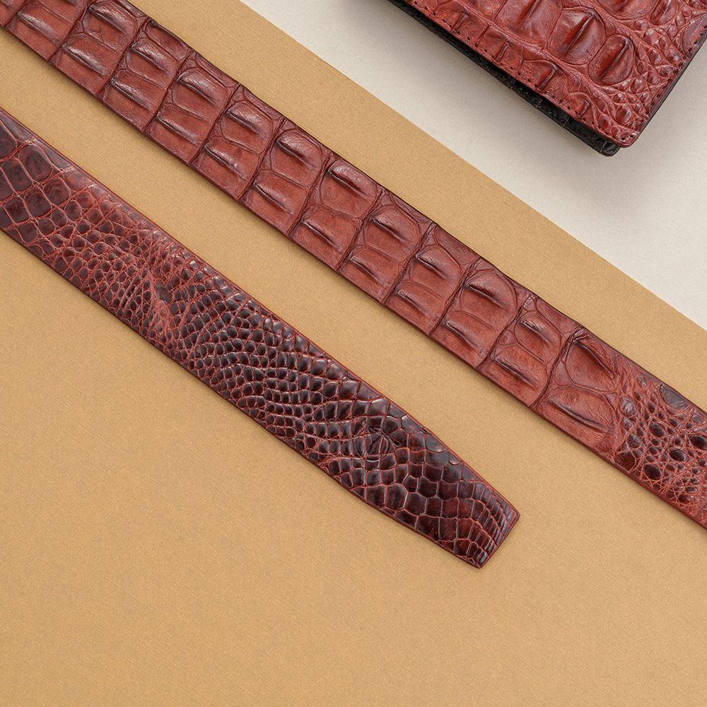 Thắt lưng nam da cá sấu nối bản 3.5 cm DTA990-01V-L-ND