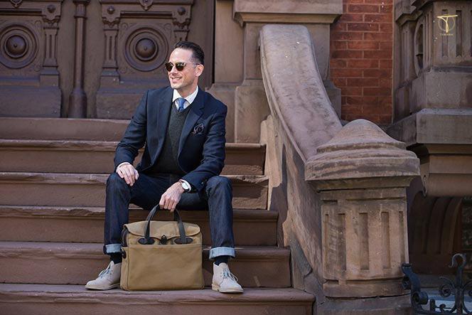 Suits kết hợp với giày Chukka cho dân công sở