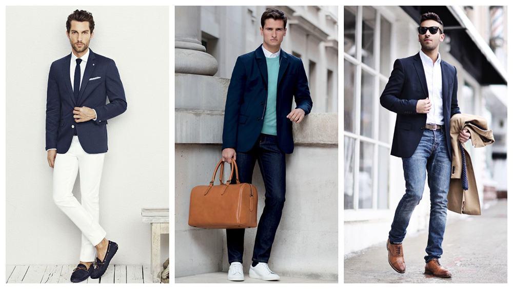 Quần jean và áo blazer