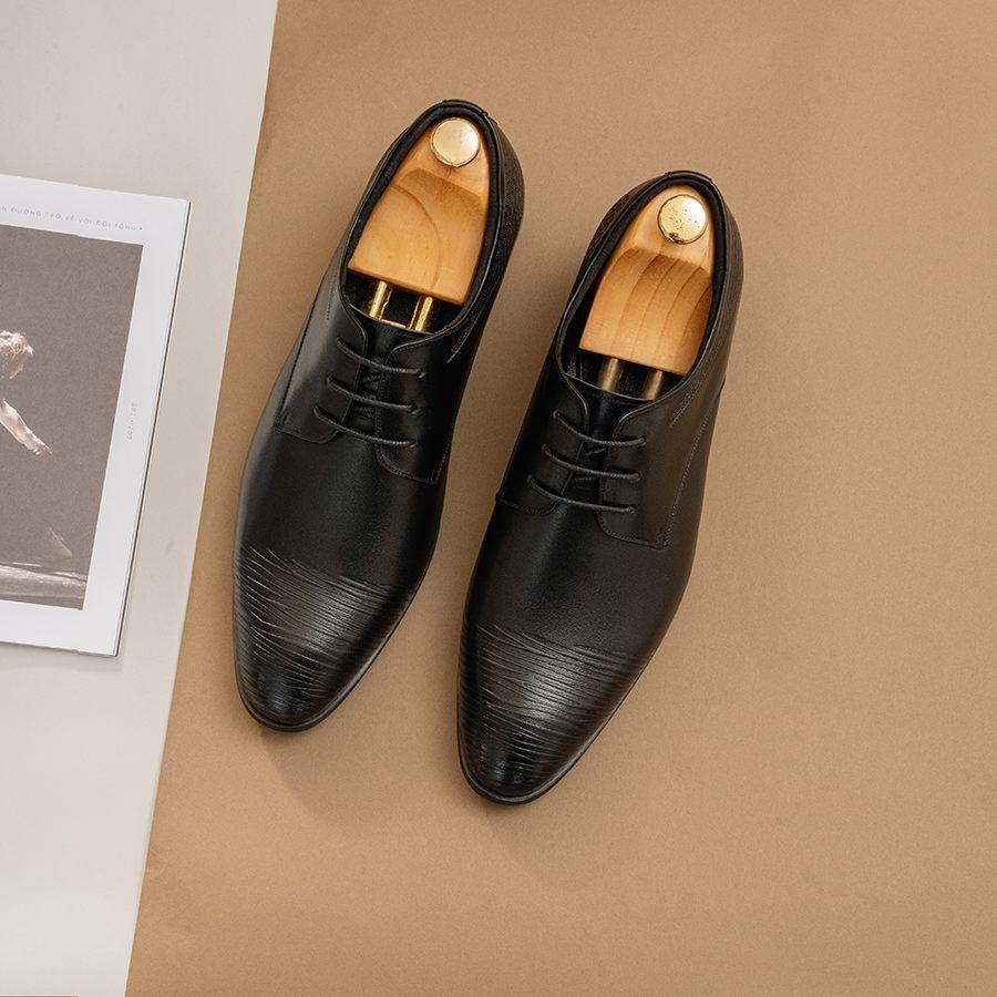 Giày tăng chiều cao nam màu đen GCTATC040-D