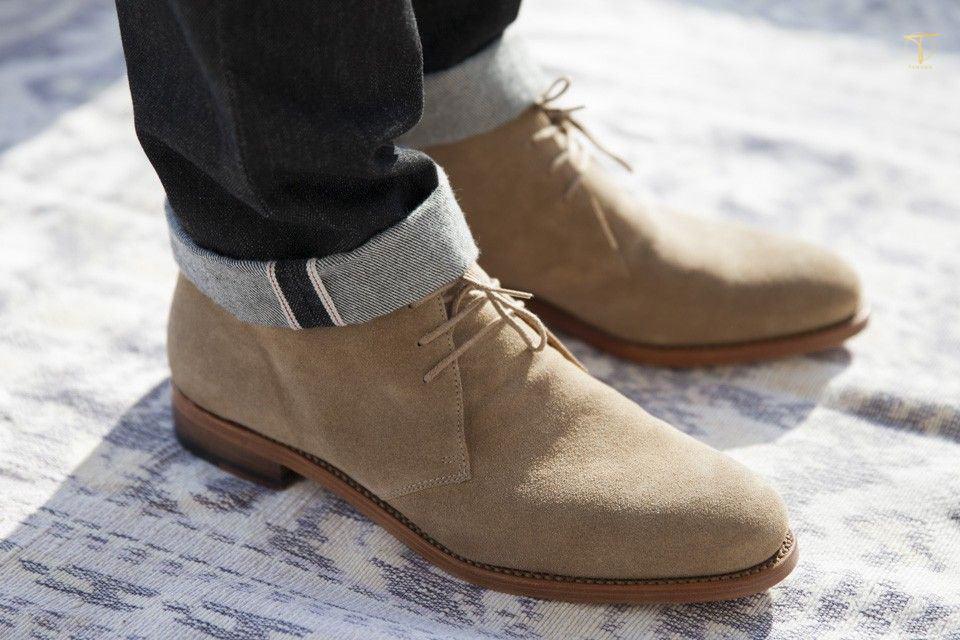 Kiểu thiết kế giày Chukka boots