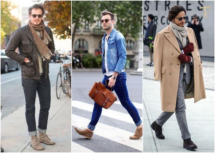Phong cách street style xuống phố với giày Chukka boots