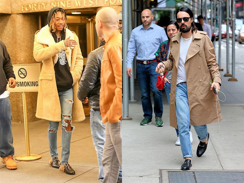 Kết hợp giày sục với quần Jean