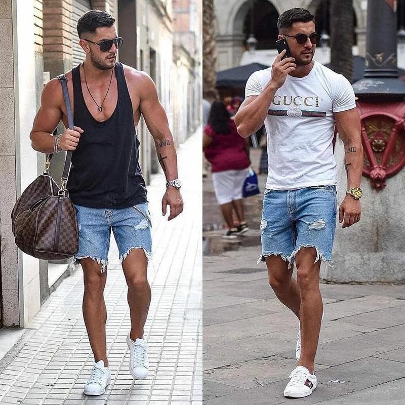 Thời trang cá tính với quần short jeans