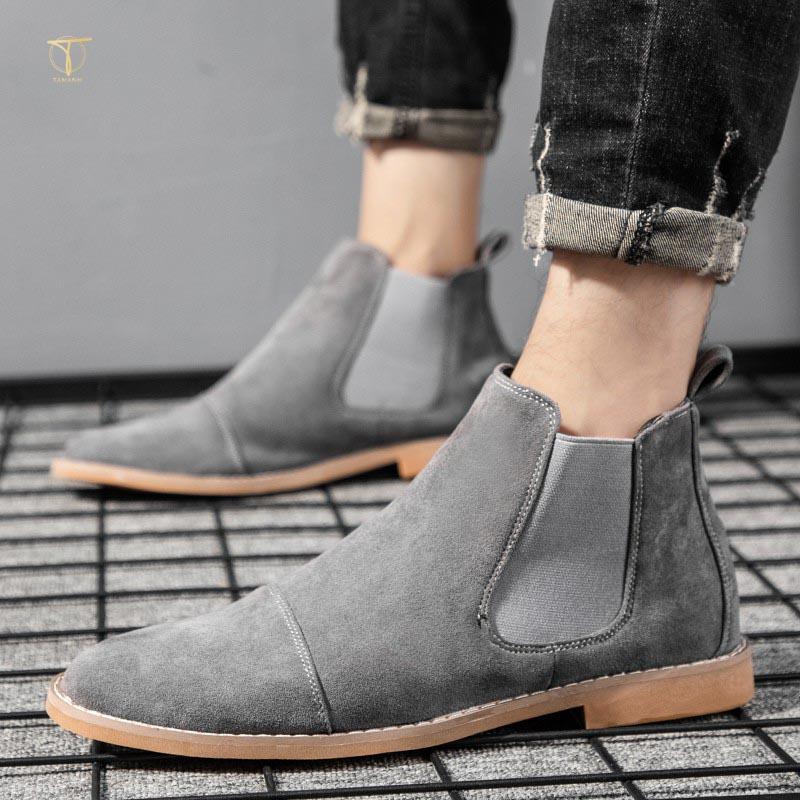 Phối đồ với giày cao cổ nam